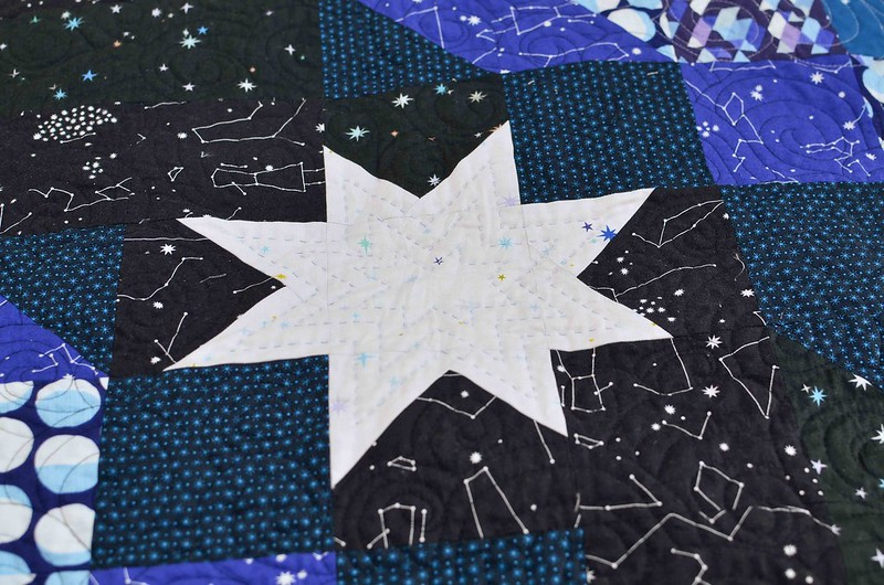 constellations quilt hand quilting