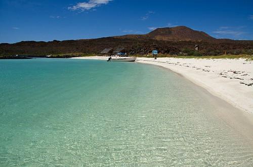 Turquoise beach, Isla Coronado, Loreto, Mexico