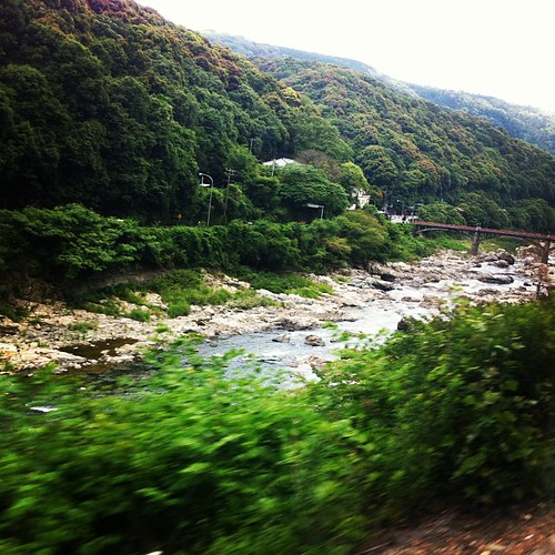 Fave view from a train ride.中央線 古虎渓ー定光寺辺り