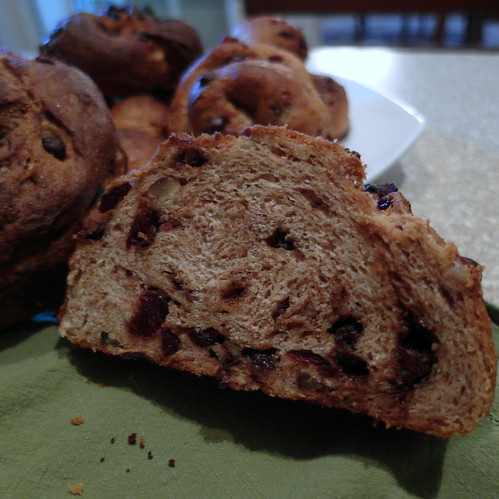Perfectly Imperfect Chocolate Cranberry Pecan Bread