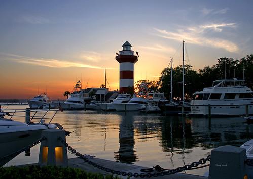 harbortownlighthouse sunsetatseapines hiltonheadislandsc