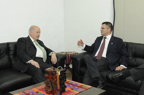 Secretario General de la OEA se reunió con el Presidente de la Asamblea General de las Naciones Unidas