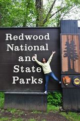 Kasumi and Redwood National and State Park Sign