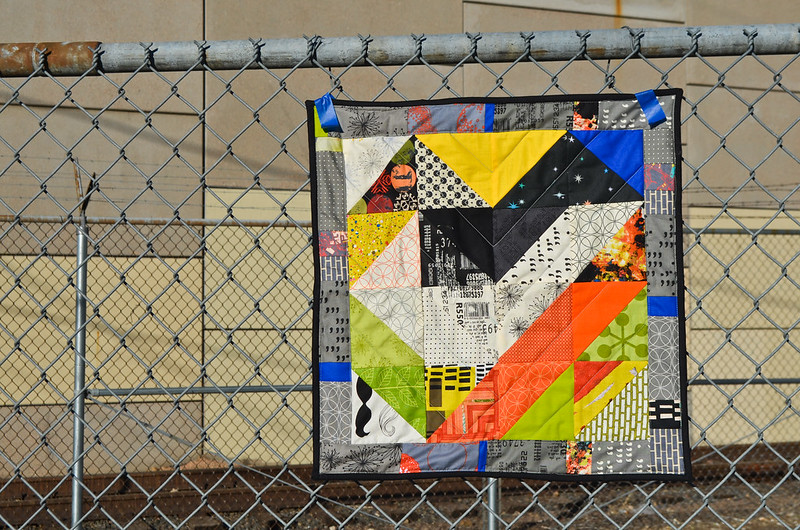 Modern Mini Quilt - Urban Energy