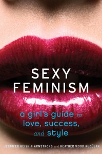 sexy feminism book cover, which has the title over juicy red lips