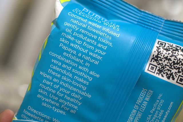 Pacifica Purify Coconut Water Cleansing Wipes mission