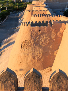 The walls of the old town of Khiva, Uzbekistan
