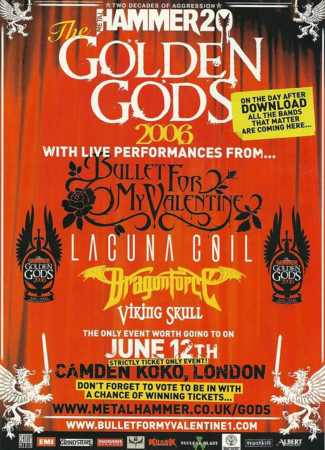 06/12/06 Metal Hammer Golden Gods 2006 @ Camden Koko, London, England