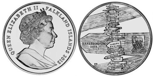 Falkland Islands Referendum coin