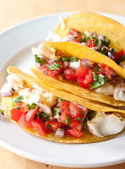 Grilled Margarita Fish Tacos
