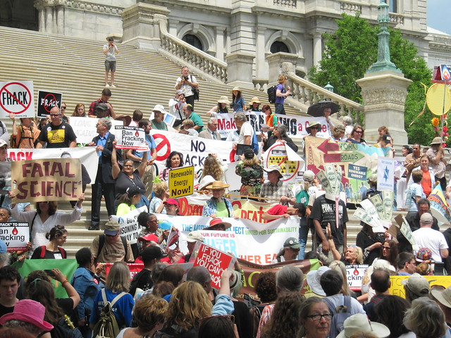 Anti-fracking protest in Albany, NY