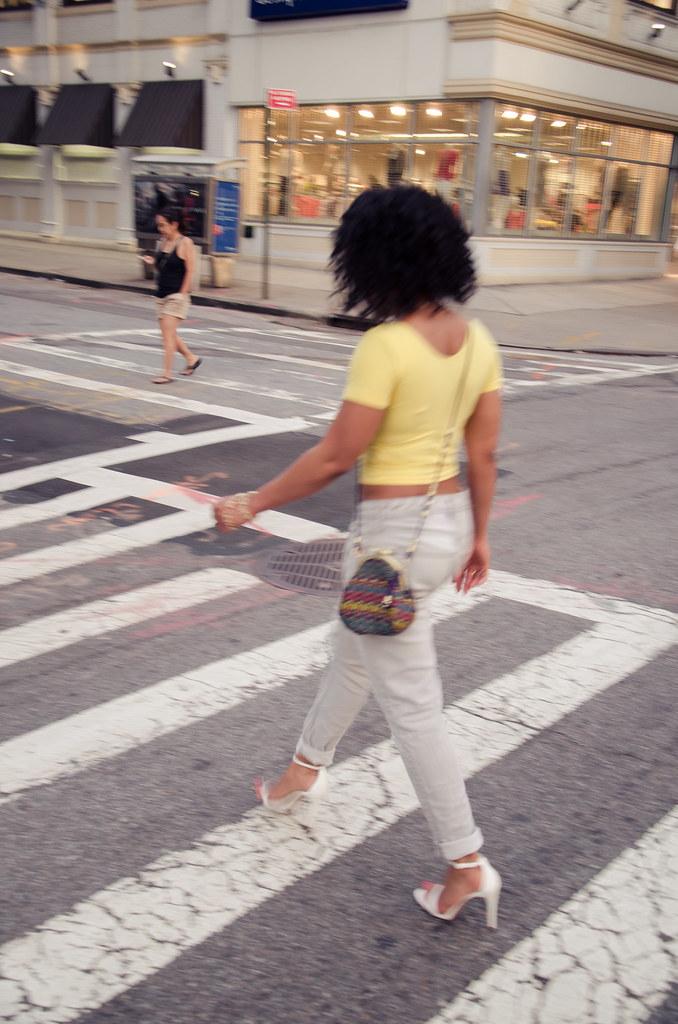 american apparel crop top, boyfriend jeans, zara heels