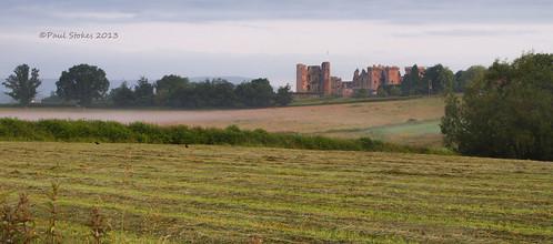morning mist castle sunrise golden raglan