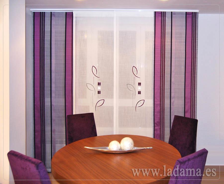 Fotograf as de cortinas en salones modernos la dama - Cortinas estilo japones ...