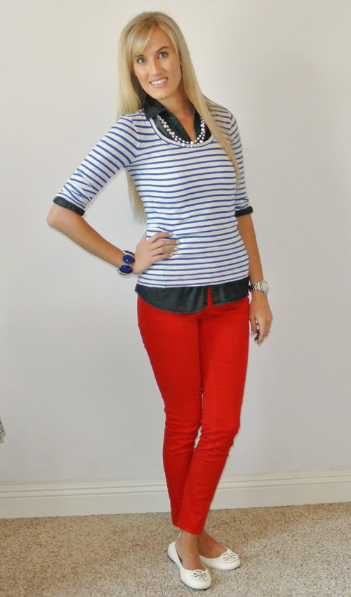 Outfit: red-white-blue