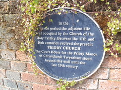 Photo of Priory Church, Christchurch blue plaque