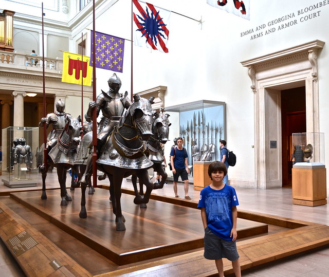 the knights display at the met