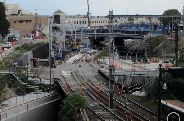 Regional Rail Link: near Footscray station, July 2013