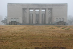 War Memorial Building in Fog