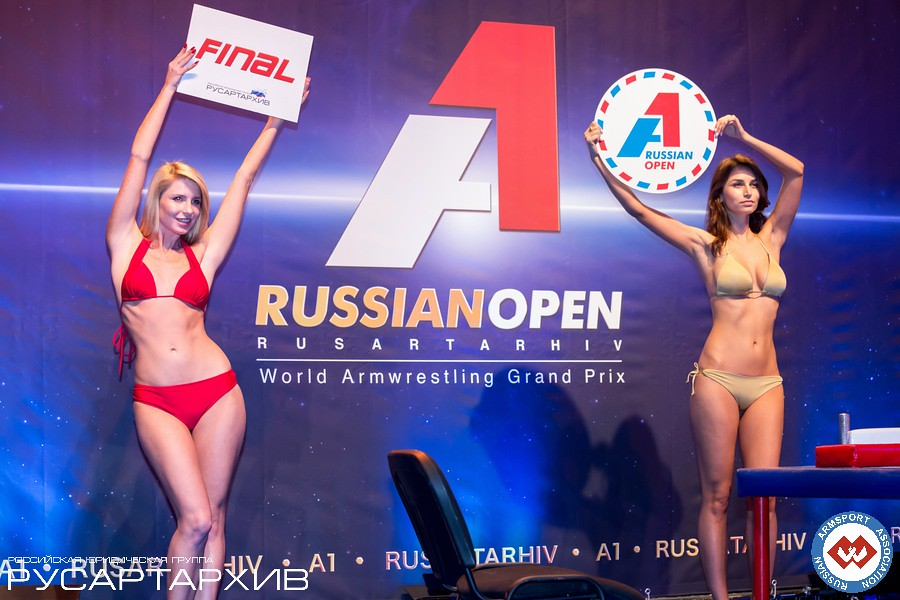Beautiful women presenting the final │ A1 RUSSIAN OPEN 2013, Photo Source: armsport-rus.ru