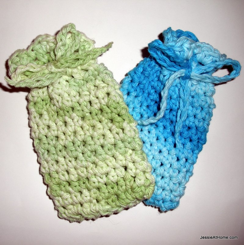 Spa-Set-Soap-Bags-Free-Crochet-Pattern