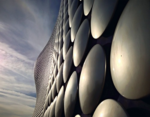 morning blue light summer sky abstract lines mobile architecture digital sunrise silver haze birmingham different alien selfridges commute intriguing manmade glimmer iconic westmidlands circular bullring iphone flickrapp gleeming iphone5 flickrforiphone iphoneography vscocam uploaded:by=flickrmobile flickriosapp:filter=nofilter birminghammoorstreetrailwaystationbmo
