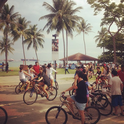 joining the bike frenzy this national day at East coast park