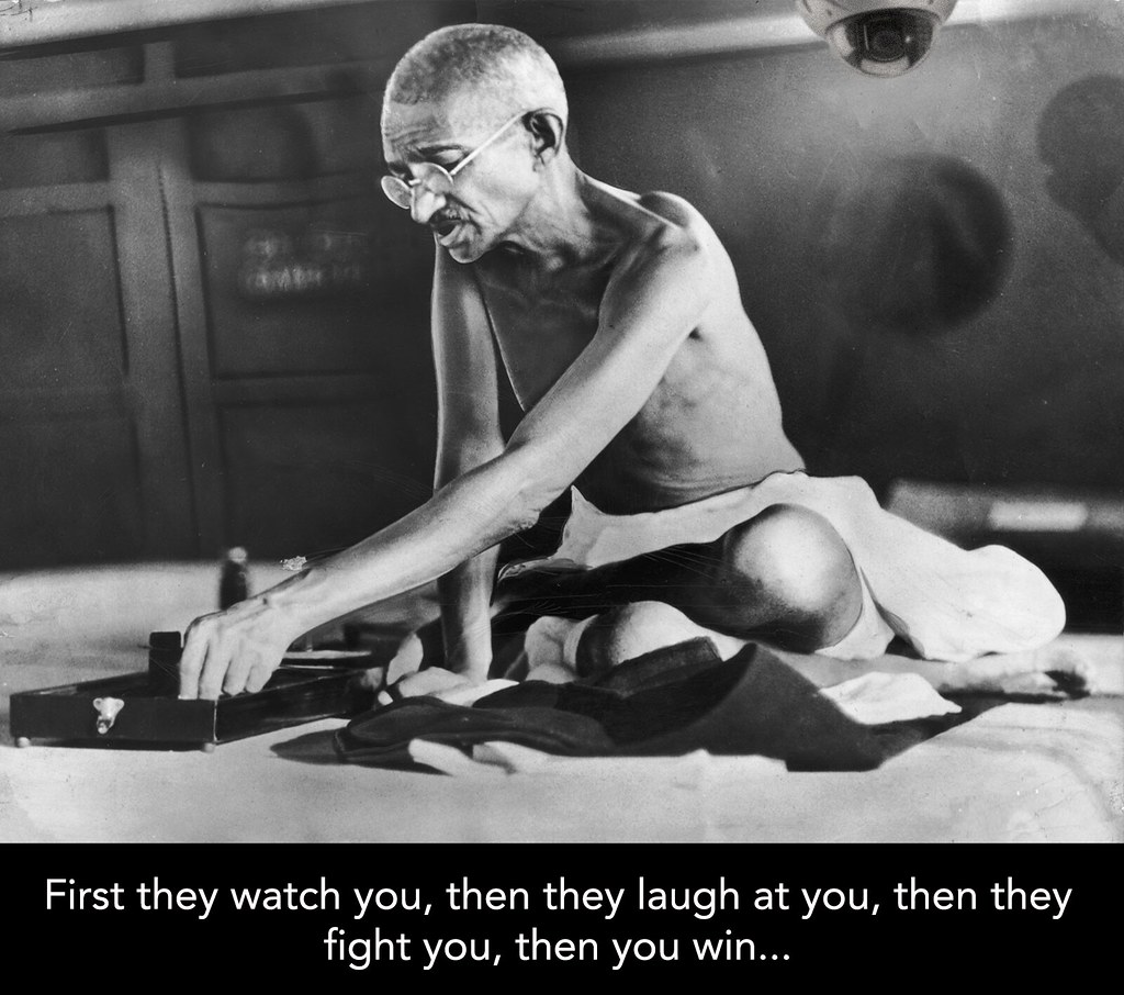 WATCHING GHANDI