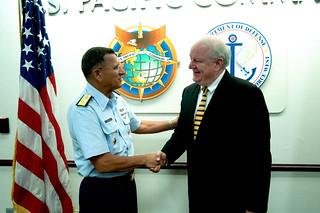 Mr. Peter Ganser, U. S. Chargé D'Affaires to Samoa visits JIATF West
