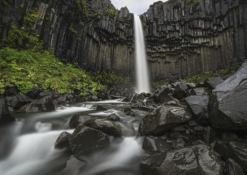longexposure water river landscape lava iceland rocks stream hexagonal columns waterfalls volcanic basalt skaftafell svartifoss theblackfalls 101913623470973115315postsjixxerkris
