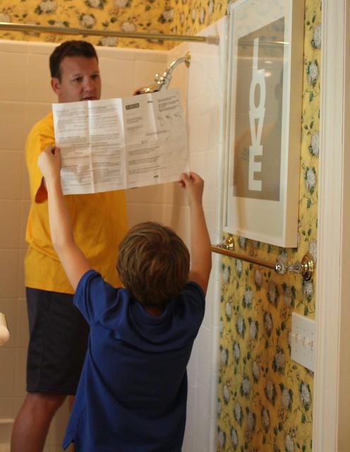 installing showerhead