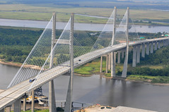 tied-arch bridge(0.0), truss bridge(0.0), cantilever bridge(0.0), arch bridge(0.0), skyway(0.0), girder bridge(1.0), suspension bridge(1.0), overpass(1.0), bridge(1.0), cable-stayed bridge(1.0),