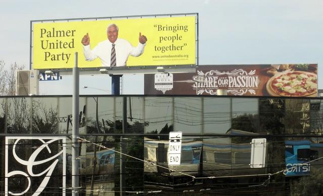 Clive Palmer billboard, Caulfield