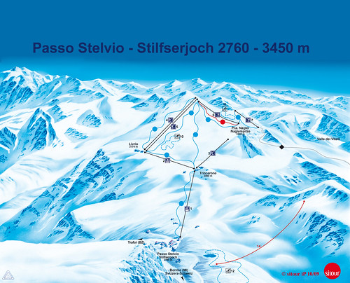 Stilfserjoch (Passo Stelvio) - mapa sjezdovek