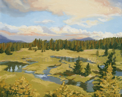 Cucumber Gulch, Breckenridge, CO  Original Painting by Erin Fickert-Rowland