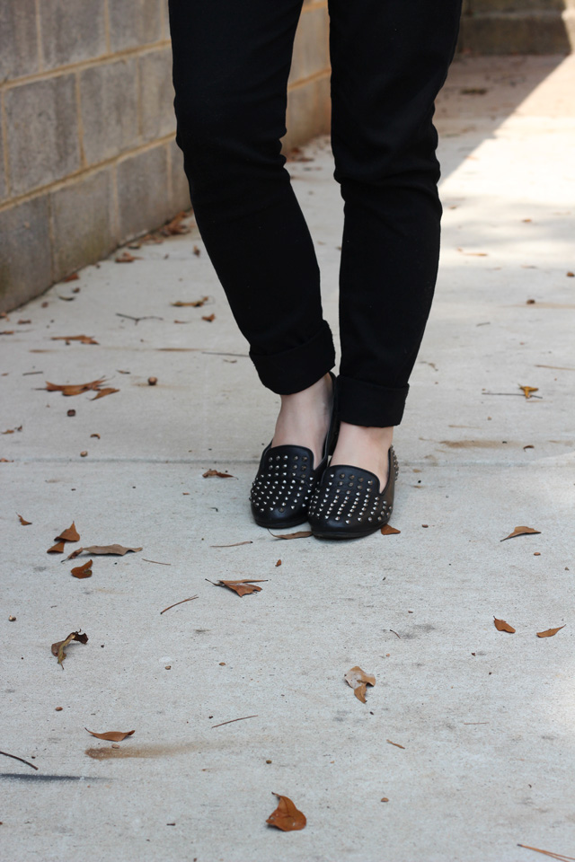 Studded Loafers with Black Pants