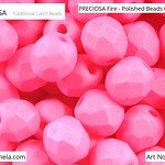 PRECIOSA Fire-Polished Beads - 151 19 001 - 02010/29574 - Magenta