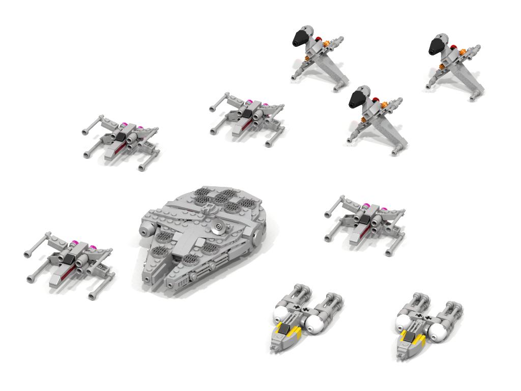 Lddmocmicro B Wing X Wing Y Wing Millennium Falcon Lego