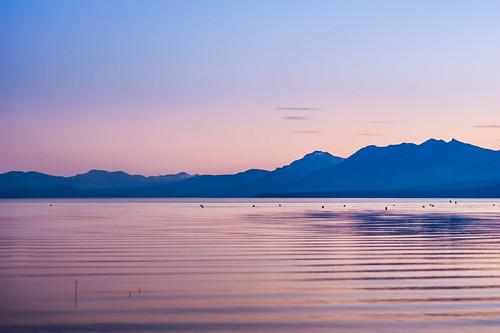 california pink sunset lake water beauty still nevada mauve bouys zephyrcove southtahoe laketahoesunset