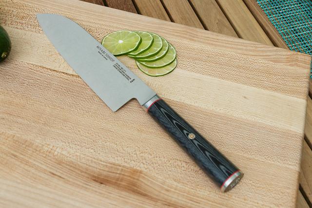 Miyabi Knife with Cut Limes