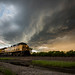 Union Pacific Under a Thunderstorm by Matthew Gress