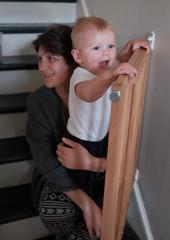 Jo adn Wilf on the stairs