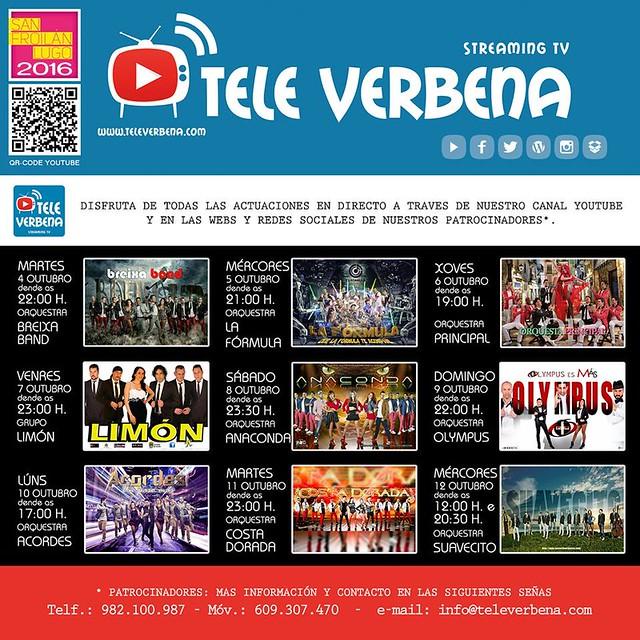 Lugo 2016 - Tele Verbena - cartel