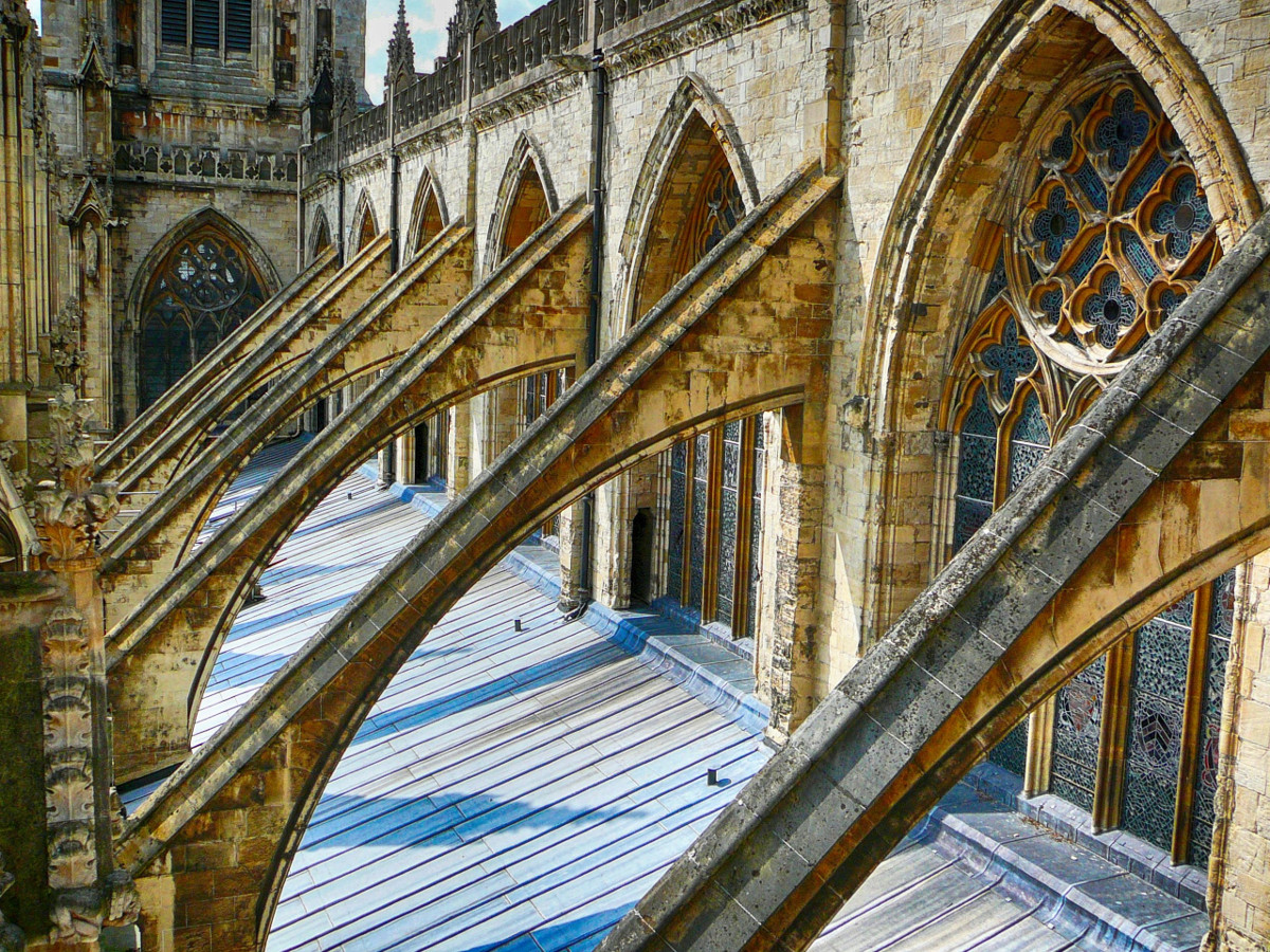 York Minster flying buttresses. Credit the noggin_nogged