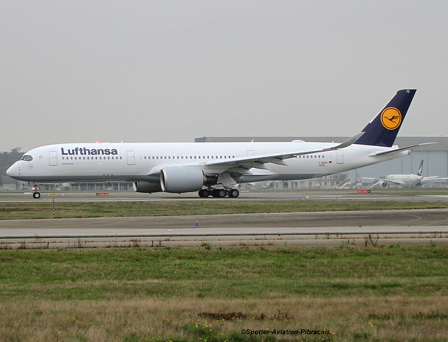 Lufthansa. FIRST FLIGHT FOR THE AIRBUS A350-941.