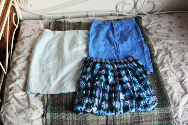 three vintage battersea car boot skirts