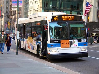 bus in New York City (by: Stephen Rees, creative commons license)