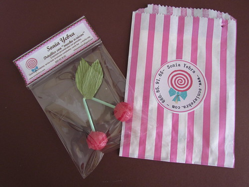 lollipops doble cherry, cereza