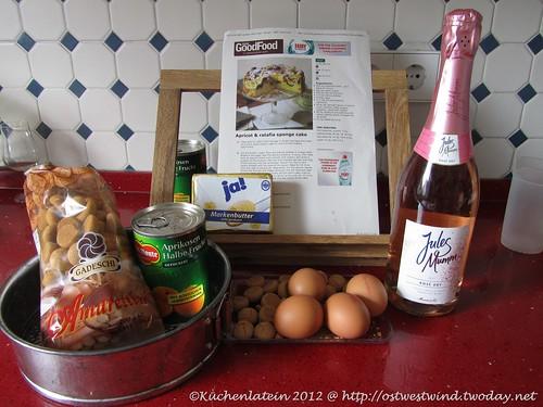Zutaten Aprikosen & Amarettini-Kuchen