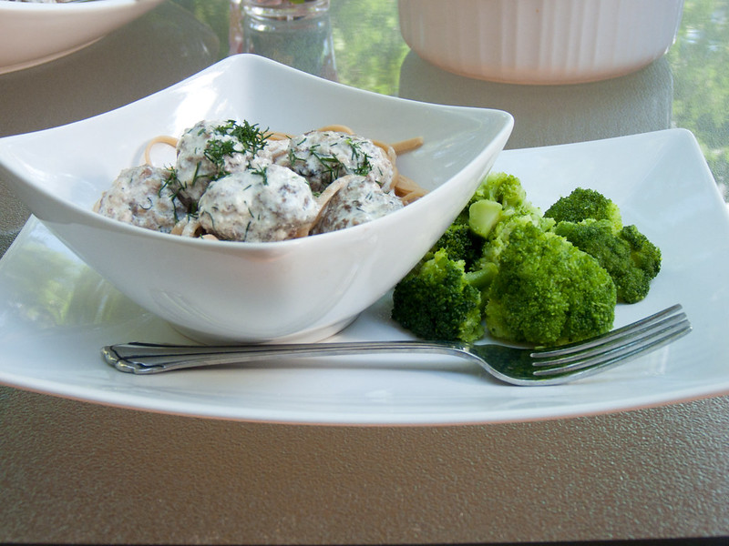 dilled meatballs meal